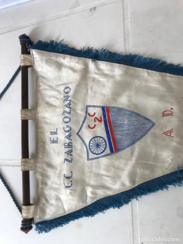 Coleccionismo deportivo: BANDERIN DE EL CLUB CICLISTA ZARAGOZANO A MANUEL BARAZA 16-7-60. - Foto 2 - 217194965