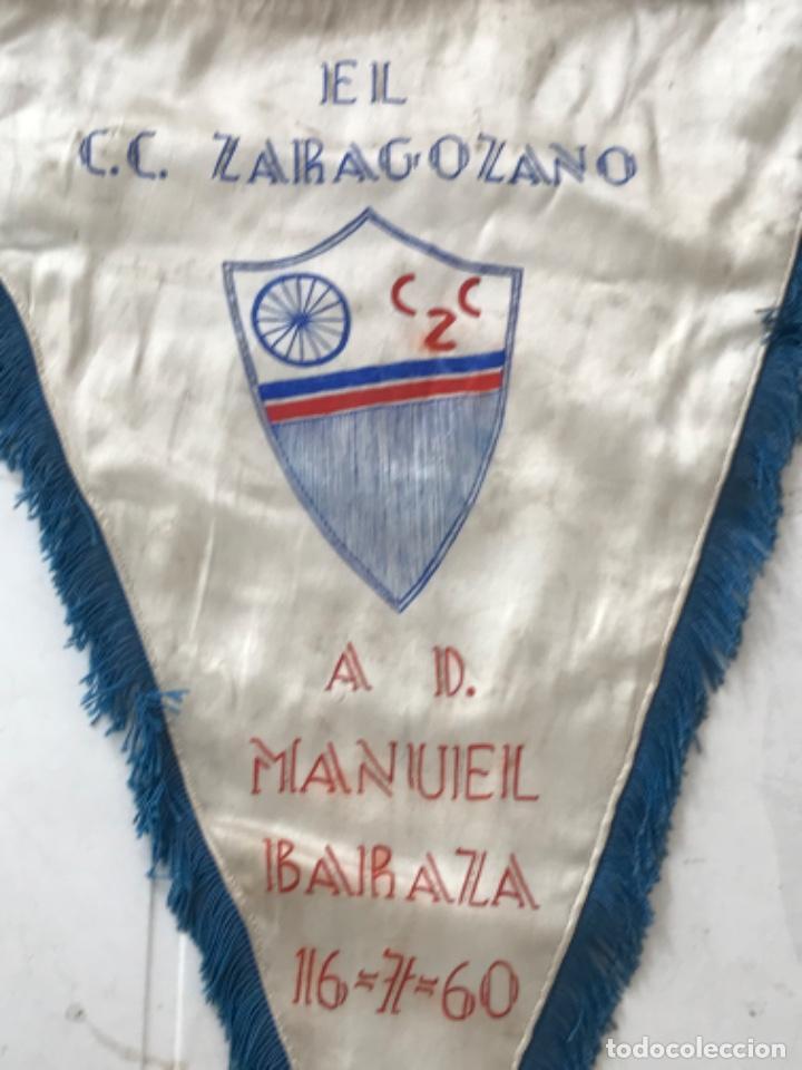 Coleccionismo deportivo: BANDERIN DE EL CLUB CICLISTA ZARAGOZANO A MANUEL BARAZA 16-7-60. - Foto 3 - 217194965
