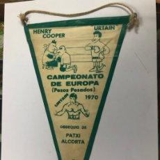 Coleccionismo deportivo: BANDERIN BOXEO COMBATE CAMPEONATO DE EUROPA 1970 PESOS PESADOS URTAIN VS HENRY COOPER. Lote 218119277