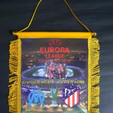 Collectionnisme sportif: BANDERIN ATLETICO DE MADRID-OLYMPIQUE MARSEILLE FINAL EUROPA LEAGUE 2018. Lote 192919768