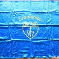 Coleccionismo deportivo: BANDERA FLAG ESTUDIANTES CAJA POSTAL BALONCESTO MADRID 85 X 72 NUEVA 100 % FLAGGE DRAPEAU R8. Lote 219278517