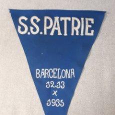 Coleccionismo deportivo: BANDERÍN BALONCESTO S.S. PATRIE. BARCELONA, 12 Y 13 OCTUBRE 1935. Lote 222074615