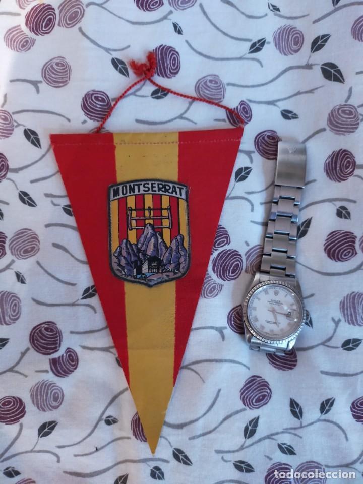BANDERIN MONASTERIO DE MONTSERRAT (BARCELONA) (Coleccionismo Deportivo - Banderas y Banderines otros Deportes)