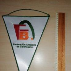 Coleccionismo deportivo: ANTIGUO BANDERIN FEDERACIÓN ANDALUZA DE BALONCESTO. Lote 226012568