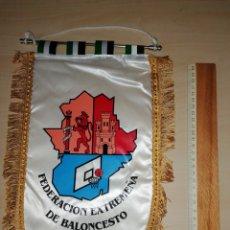Coleccionismo deportivo: ANTIGUO BANDERIN FEDERACIÓN EXTREMEÑA DE BALONCESTO. Lote 226017522
