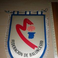 Coleccionismo deportivo: ANTIGUO BANDERIN FEDERACIÓN DE BALONCESTO DE MADRID. Lote 226292400
