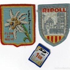 Coleccionismo deportivo: DOS PARCHES TEXTILES, RIPOLL Y EDELWEISS. AÑOS 50 O 60.. Lote 231170540
