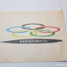 Coleccionismo deportivo: BANDERIN INAUGURACION BARCELONA 92 EN PAPEL MUY DIFICIL. Lote 233799715