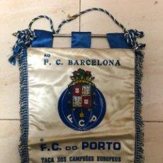 Collezionismo sportivo: BANDERIN PARTIDO FINAL HOCKEY SOBRE PATINES PARTIDO COPA EUROPA 1985 FC BARCELONA /FC OPORTO. Lote 237138010