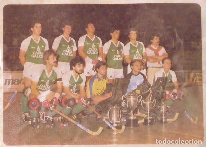 Coleccionismo deportivo: Banderín H. C. Liceo Caixa Galicia 1982-83. Campeón de Liga. 28x22 cm. Hockey patines. - Foto 2 - 237319820