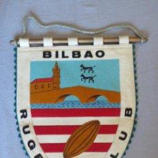 Coleccionismo deportivo: BANDERIN BILBAO RUGBY CLUB. Lote 239622430