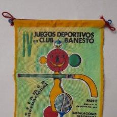 Collezionismo sportivo: BANDERIN DE TELA. IV JUEGOS DEPORTIVOS DEL CLUB BANESTO. JUNIO DE 1965 . PINAR DEL REY. Lote 242194730