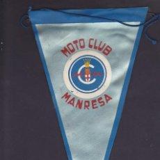 Coleccionismo deportivo: BANDERIN MOTO CLUB MANRESA AÑOS 60. Lote 244542380