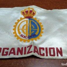 Coleccionismo deportivo: BRAZALETE DE TELA - ORGANIZACIÓN DEPORTIVA - ALICANTE. Lote 245390200
