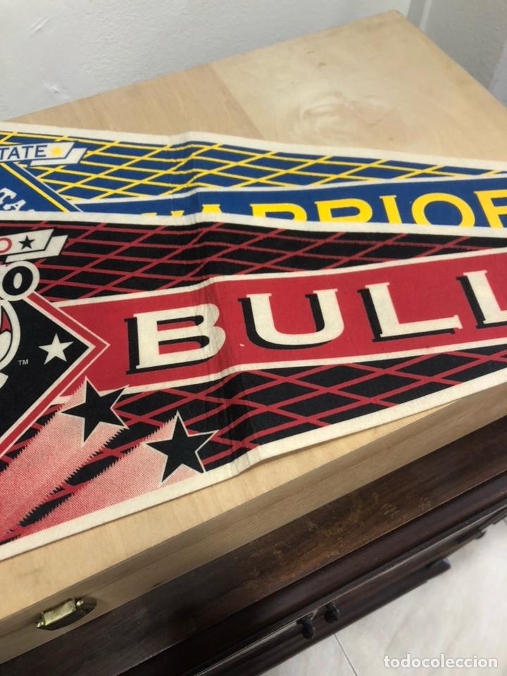 Coleccionismo deportivo: Lote de 4 banderines gran tamaño, oficiales NBA, años 80 - Foto 3 - 247315185