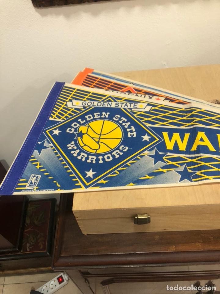 Coleccionismo deportivo: Lote de 4 banderines gran tamaño, oficiales NBA, años 80 - Foto 5 - 247315185