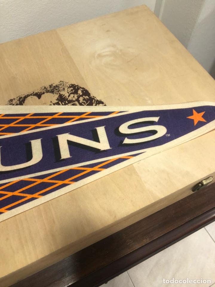 Coleccionismo deportivo: Lote de 4 banderines gran tamaño, oficiales NBA, años 80 - Foto 8 - 247315185