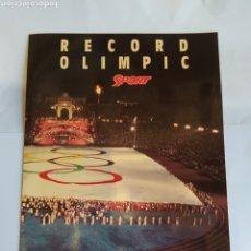 Coleccionismo deportivo: RECUERDO BARCELONA 92.RECORTE VERDE BANDERA OLIMPICA.. Lote 252830640
