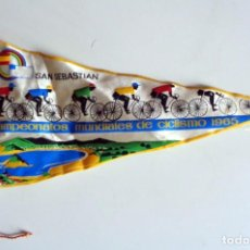 Coleccionismo deportivo: BANDERÍN ANTIGUO CAMPEONATOS MUNDIALES DE CICLISMO - SAN SEBASTIÁN 1965. Lote 254367325