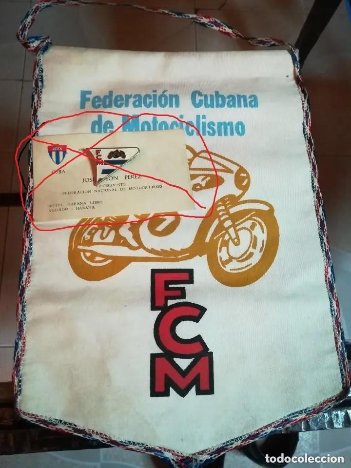 Coleccionismo deportivo: ANTIGUO BANDERÍN FEDERACÍÓN CUBANA DE MOTOCICLISMO. - Foto 2 - 187174485
