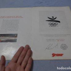 Coleccionismo deportivo: * ANTIGUO TROZO DE LA BANDERA OLIMPICA DE BARCELONA 92, ORIGINAL, JUEGOS OLIMPICOS, OLIMPIADAS. ZX. Lote 267441424