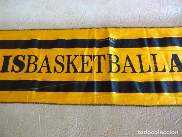 Coleccionismo deportivo: bandera tipo bufanda original final four 1989 munich A.C. Aris - Foto 3 - 268949839
