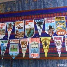 Coleccionismo deportivo: 15 BANDERÍN CONMEMORATIVO NUMERADO OLIMPIADAS. BIMBO AÑO 1968. REGALO 6 REPES. AMPLIADO 19-6-21.. Lote 22475172