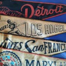 Coleccionismo deportivo: (F-210632)LOTE DE 3 BANDERIN BEISBOL Y UNIVERSITARIO USA,DETROIT,DODGERS LOS ANGELES,GIANTS S.F.. Lote 271553418