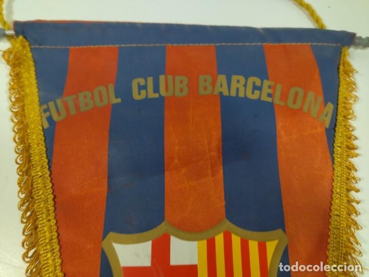 Coleccionismo deportivo: Banderín Fútbol Club Barcelona - Foto 3 - 276290383