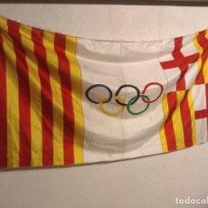 Coleccionismo deportivo: BANDERA DE LAS OLIMPIADAS DE BARCELONA 92. AUTENTICA. ES TODO UNA. Lote 283218473