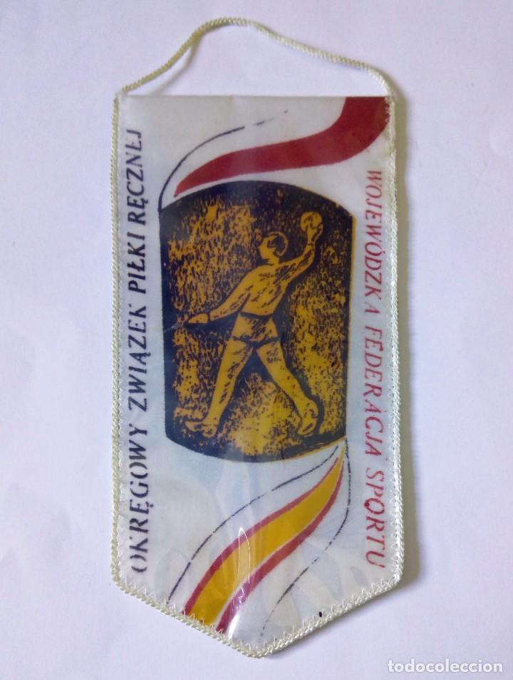 BANDERÍN TORNEO CIRCULAR DE BALONMANO FEDERACIÓN TARNÓW, POLONIA - AROS OLÍMPICOS (Coleccionismo Deportivo - Banderas y Banderines otros Deportes)