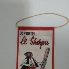 Coleccionismo deportivo: BANDERIN DEPORTES EL SHERPA DE LOS AÑOS 60. Lote 292368093