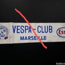 Coleccionismo deportivo: VESPA CLUB DE FRANCIA , MARSELLA. BANDEROLA ORIGINAL.. Lote 292954243