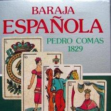 Barajas de cartas: BARAJA ESPAÑOLA COMAS 1829 - ANIVERSARIO 1797-1987. CON PUBLICIDAD ¡ SIN USAR !. Lote 26804865
