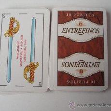 Barajas de cartas: BARAJA CON PROPAGANDA DE LOS PURITOS ENTREFINOS. Lote 29247181