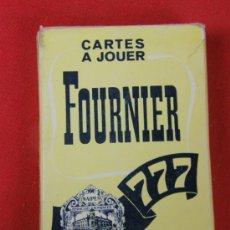 Barajas de cartas: NAIPES CARTAS FOURNIER VITORIA 777 54 CARTAS SIGNES AUX QUATRE COINS. Lote 33398098
