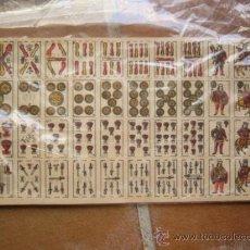 Barajas de cartas: HOJA CON BARAJA ESPAÑOLA PARA RIFAS. 14 X 30 CM. DORSO CON LA MISMA NUMERACIÓN.. Lote 98520040