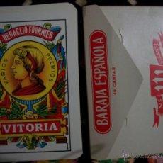 Barajas de cartas: BARAJA ESPAÑOLA DE HERACLIO FOURNIER. Nº 111 GIGANTE 40 CARTAS Y FUNDA. Lote 42373117