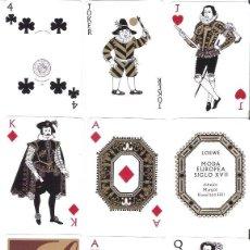 Barajas de cartas: PRECIOSA BARAJA DE FOURNIER, MODELO S. XVII DISEÑADA POR M. HAMILTON PARA LOEWE. SIN ESTRENAR. Lote 53836407