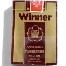 Barajas de cartas: BARAJA DE CARTAS-PLAYING CARD-WINNER -SIN ESTRENAR CON PLASTICO DE ORIGEN. Lote 55080503