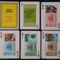 Barajas de cartas: BARAJA LOTERIA NACIONAL 1977 LAS PROVINCIAS DE ESPAÑA, SIN USAR. Lote 56006880