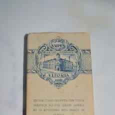 Barajas de cartas: BARAJA MUY ANTIGUA DE HERACLIO FOURNIER, TAMAÑO BRIDGE, FIGURAS POKER - SIN USAR - CON ENVOLTORIO. Lote 56921493