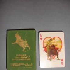 Barajas de cartas: BARAJA NAIPES TAURINA RUANO LLOPIS, CLEMENTE JACQUES 1940 NUEVA. Lote 61040887