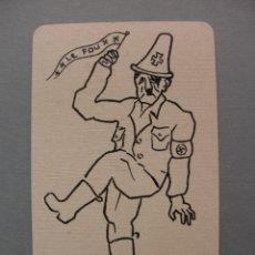 Barajas de cartas: BARAJA II GUERRA MUNDIAL LE JEU DES ALLIES, ROOSEVELT, STALIN, CHURCHILL, HITLER, WWII, 1945. Lote 61070551