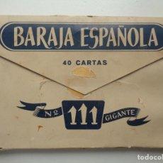 Barajas de cartas: BARAJA ESPAÑOLA FOURNIER,40 CARTAS Nº111.GIGANTE. Lote 64839423