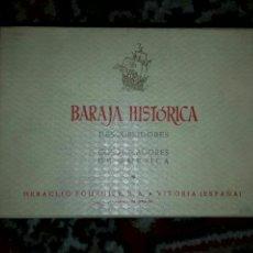 Barajas de cartas: BARAJA HISTÓRICA FOURNIER DE 1959 DESCUBRIDORES Y COLONIZADORES DE AMÉRICA. Lote 79567482
