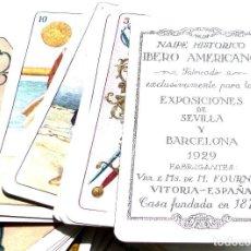Barajas de cartas: BARAJA NAIPES EXPOSICIÓN IBERO AMERICANO AÑO 1929 VDA E HIJOS DE FOURNIER - EUZKO JOKOILEA - VASCO. Lote 84592120