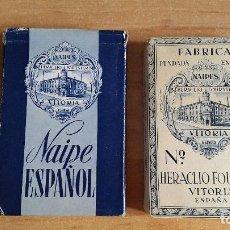 Barajas de cartas: BARAJA CARTAS FOURNIER - TIMBRE 1,25 PESETAS - FINALES AÑOS 40`S PRINCIPIOS 50`S VER FOTOS. Lote 95471203