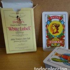 Barajas de cartas: BARAJA ESPAÑOLA DE CARTAS COMAS. PUBLICITARIA DE DEWAR'S WHITE LABEL. NUEVAS.. Lote 100915927
