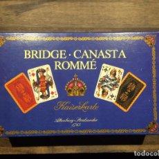 Barajas de cartas: JUEGO DE 2 BARAJAS DE CARTAS DE BRIDGE - AÑO 1975 - COMPLETAS . Lote 101100835